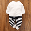 baby white striped cotton elephant all in one romper