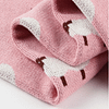 pink lamb knitted cotton baby blanket