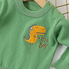 baby boy and toddlers green knitted dinosaur jumper