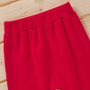 babies and toddlers red jogging pants