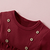 baby and toddler girl red long sleeve ruffle detail dress