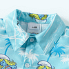 baby boys blue the smurfs short sleeve shirt and shorts outfit set