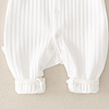 baby long sleeved white ribbed romper suit with sail boat