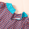 toddler and young child's blue and red check occasion dress