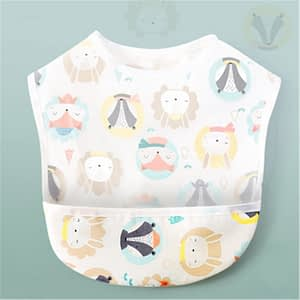 woodland animal waterproof bib for babies and toddlers