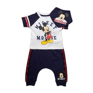 Disney Mickey Mouse White 3 Piece T-Shirt, Shorts & Bib Set
