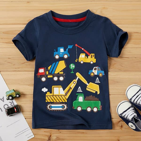 Navy Blue Digger Print T-Shirt