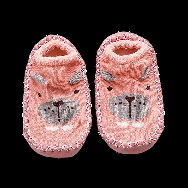 my first pink little bear slipper socks for newborns