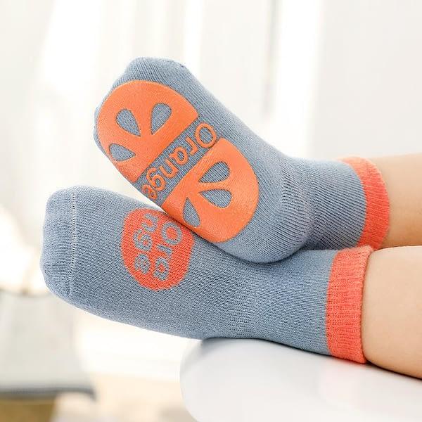 dark grey fruit splash gripper socks