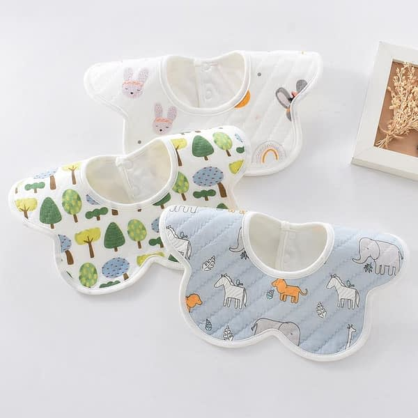 Set of 3 360 Rotating bibs for babies and toddlers
