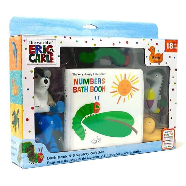 The very hungry caterpillar bath book and squirty toy gift set