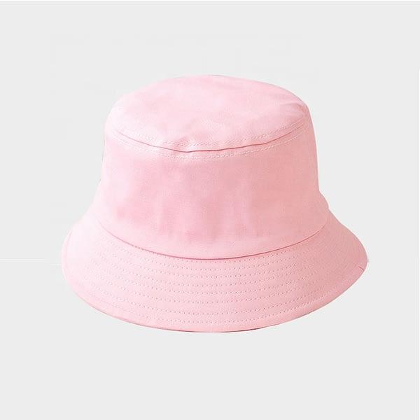 Kids Pink Cotton Bucket Sun Hat