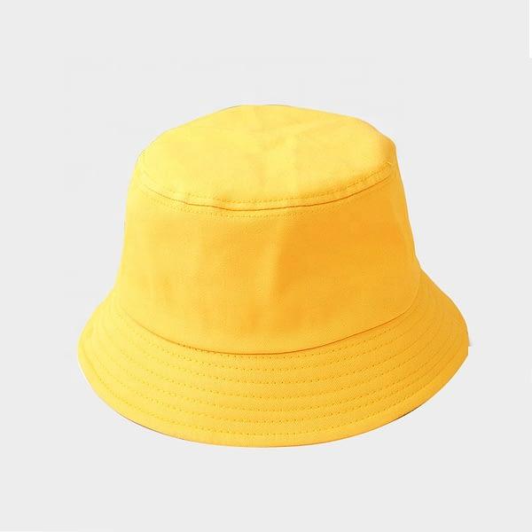 Kids yellow Cotton Bucket Sun Hat