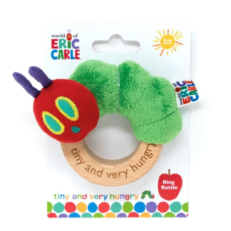Tiny Caterpillar ring rattle from the very hungry caterpillar book