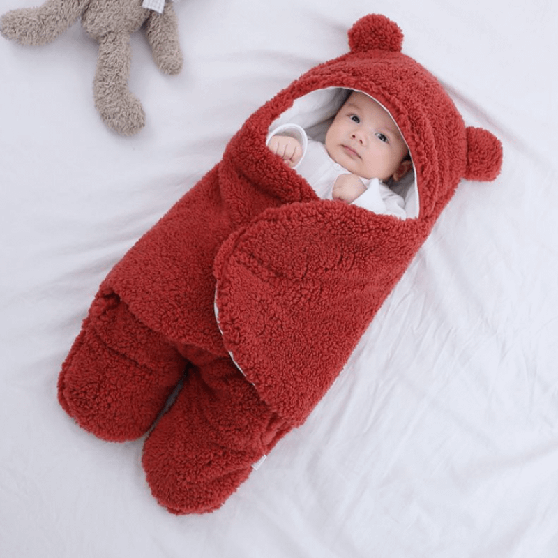 red swaddle wrap for newborn baby