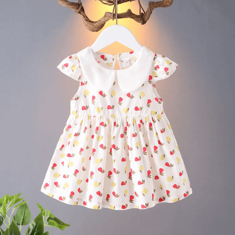 baby girls pear print summer dress