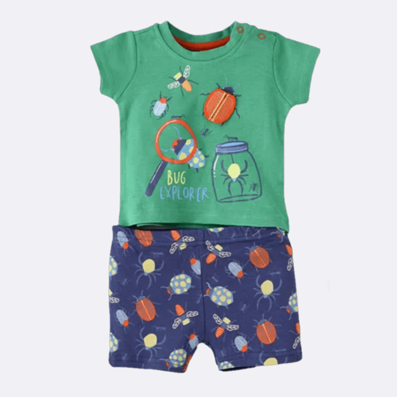 lily and jack don't bug me 3d green t-shirt and shorts set