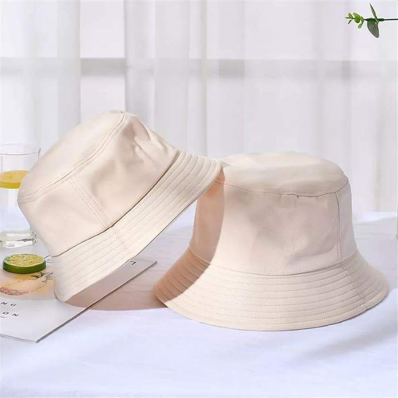 Kids beige Cotton Bucket Sun Hat