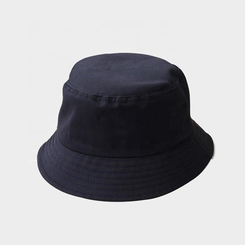 Kids black Cotton Bucket Sun Hat