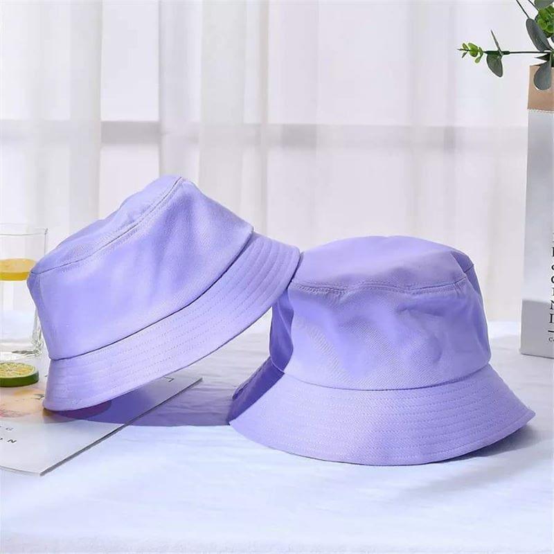 Kids purple Cotton Bucket Sun Hat
