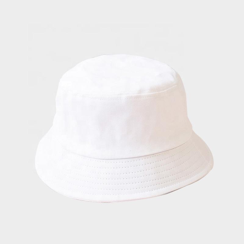 Kids white Cotton Bucket Sun Hat